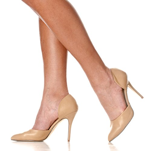 Toe Riverberry Taupe Pu Women's On D'Orsay Slip Nora Pointed Heels Pump ABpwB1qt