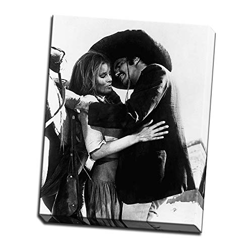 wallsthatspeak Raquel Welch and Burt Reynolds in 100 Rifles Printed on 11x14 Canvas Wall Art by Movie Star News]()