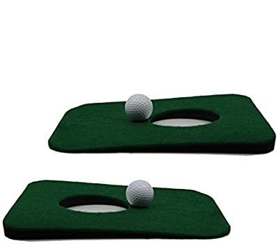 Upstreet Putting Green Indoor Golf Mat for Practice - Includes Two Indoor Putt Mats and Two Training Balls
