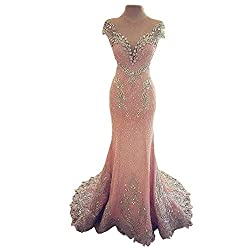 Sparkly Rhinestones Crystals Evening Gown