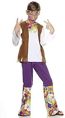 Aec cu260232/128 Disfraz niño Hippie Mixta, 128 cm: Amazon.es ...