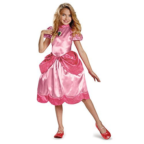 Nintendo Super Mario Brothers Princess Peach Classic Girls Costume, -