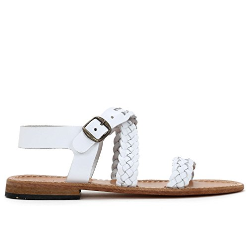 Scarpe En Sandales Alesya amp;scarpe Tressées Blanc Basses Cuir aUxUwFpq