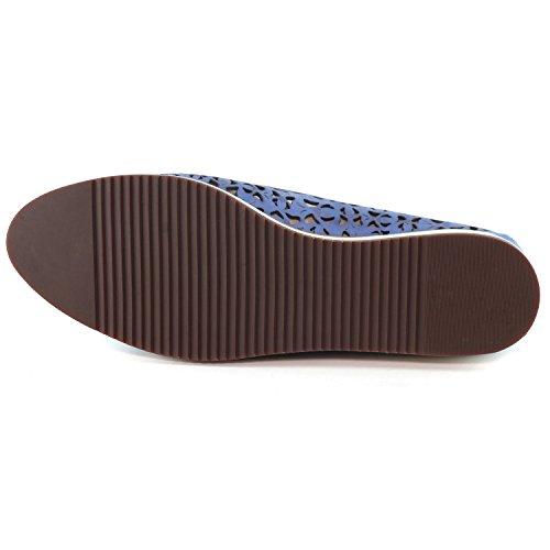 Marc Joseph Ny Delle Scarpe Delle Donne Di Moda Di Brooklyn Nobuck Loafer Celeste Nobuck