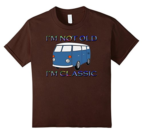 [Kids I'm Not Old I'm Classic Vintage Car Bus Van 70s Automobile  8 Brown] (70s Era Clothing)