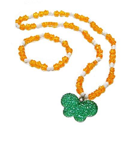 - Linpeng LP12142012-47 Kids Jewelry Set Butterfly Charm Beaded Necklace & Bracelet