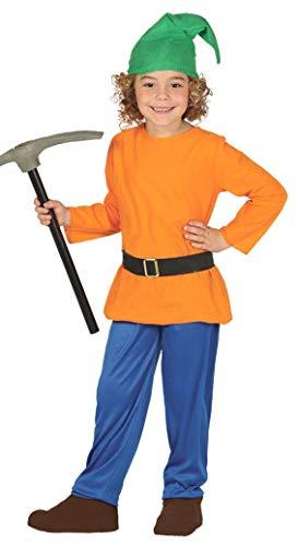 (Boys Girls Orange Dwarf Gnome World Book Day Film Fancy Dress Costume 3-9 Years (7-9)