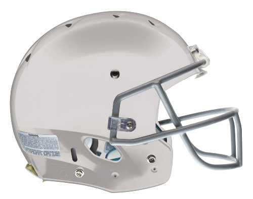 Schutt Youth Recruit Hybrid Football Helmet without Faceguard (White, Medium)