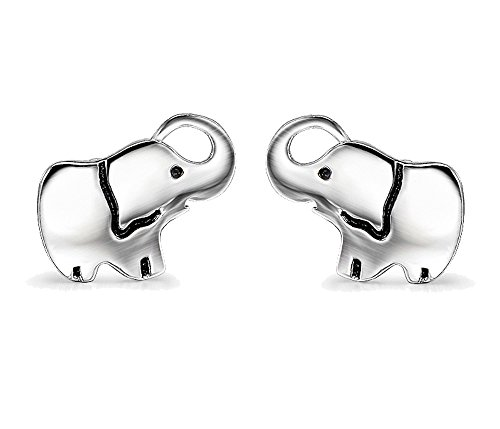 Angel caller Fashion Cute Jewelry 925 Sterling Silver Lucky Elephant Stud Earrings for Women Girls (Elephant 1)
