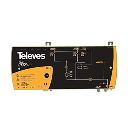 Televes 534040 - Amplificador dtkom matv 3e/1s f fm-biii-uhf