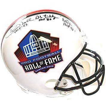 0a4694d78 Amazon.com  Chuck Noll Don Shula Bob Lilly Ron Yary Autographed Signed NFL  Hall of Fame Full Size Replica Helmet - Certified Authentic  Sports  Collectibles