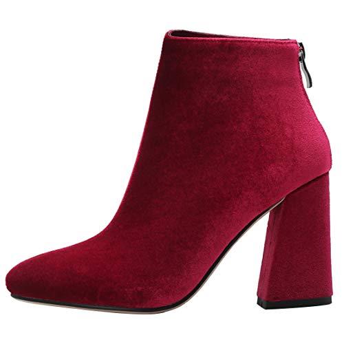 Classici Classici Classici AIYOUMEI Donna Rosso Stivali 38 Rot Rot Rot EU 5 6pnTUwq