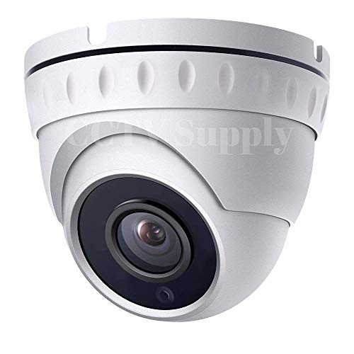 - Real HD 1080P Dome HD Analog Outdoor Security Camera (Quadbrid 4-in1 HD-CVI/TVI/AHD/Analog), 2MP 1920x1080, 65ft Night Vision, Metal Housing, 110° Wide Viewing Angle (2.8mm White)