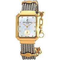 Charriol St. Tropez Mansart Diamond White Mother of Pearl Dial Ladies Watch