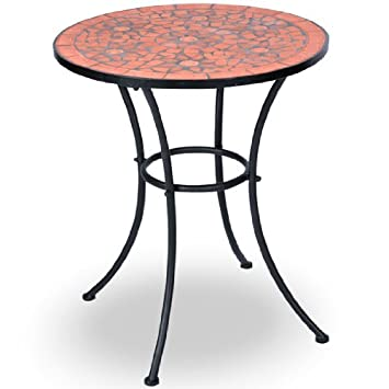 Jago - Table mosaïque de jardin de style méditerranéen Ø 60 cm ...