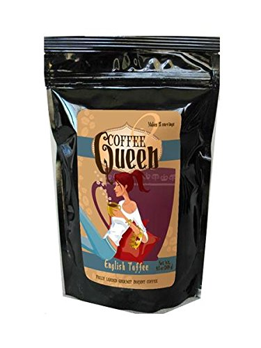 Coffee Queen Gourmet Instant Coffee , English Tofee 2 pack, 30 servings