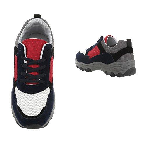 Ital Piatto Blu Sneakers Multi design Low 113 Da Donna G Sneaker Scarpe Fw87rqFX