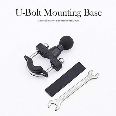 "Motorcycle Handlebar U-Bolt Clamp Base 25mm 1/"" Ball Mount for RAM Mounts"