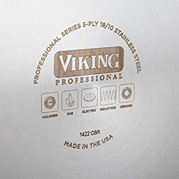 Viking Professional 5-Ply Stainless Steel Nonstick Fry Pan, 8 Inch