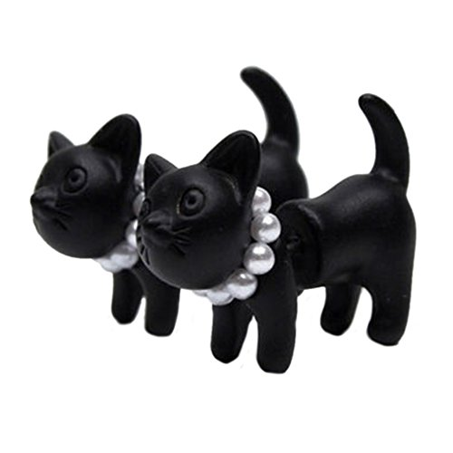 YAZILIND Punk Cute 3D Cat Animal Impalement Piercing Stud Earrings (Cuff Earrings Yazilind)