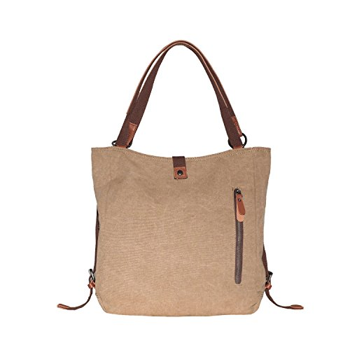 Women's Bag Purse Tote Handbag Backpack Bag Casual Shoulder Canvas SHANGRI Rucksack Khaki LA qETnx8qZ
