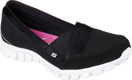 Skechers Mujeres Ez Flex 2 - Quipster Negro / Blanco Sneaker 7.5 B (m)