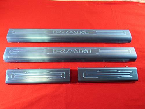 Mopar Dodge Ram Front & Rear Stainless Steel Door Entry sill Guard kit New OEM