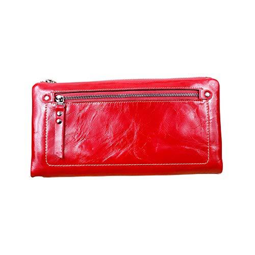 Pochette Vache Color Unisexe Lovely Red Rose Red en rabbit Cuir de xZTxqUY6