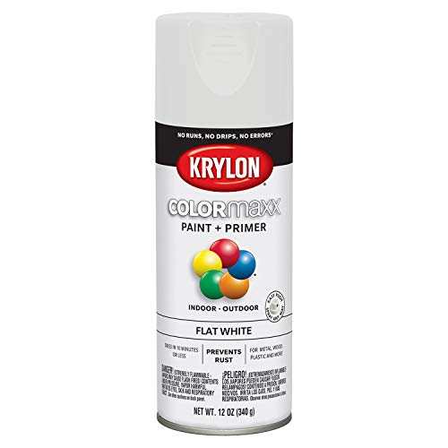 Flat White Paint Spray - Krylon K05548007 COLORmaxx Spray Paint, Aerosol, White