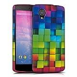 kwmobile TPU SILICONE CASE for LG Google Nexus 5 Design rainbow cubes multicolor green blue - Stylish designer case made of premium soft TPU