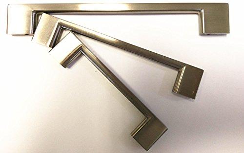 Euro Style Modern Vanity - Pulls Cabinet Handles Brushed Nickel Drawer Pulls for Kitchen Doors Bathroom Vanity (8'') Hardware Contemporary Euro Style CABINET KNOBS CABINETS HANDLES CABINET PULLS Heavy Duty