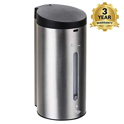Albayrak Premium Automatic Touchless Soap & Shampoo Dispenser - Wall Mounted Stainless Steel Dispenser for Bathroom & Kitchen - Ideal for Commercial and Public Places- Large Capacity - 3Year Warranty