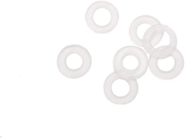 50 Pack Size M36 Plastic Clear Nylon Washer Shim Spacer Washer Gasket Rings Eyelets O-Ring Flat M36