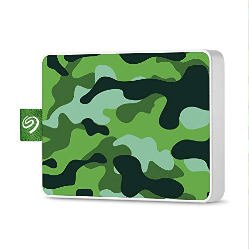 Seagate One Touch SSD 500GB External Solid State Drive Portable – Camo Green, USB 3.0 for PC Laptop and Mac, 1yr Mylio Create, 2 months Adobe CC Photography (STJE500407)