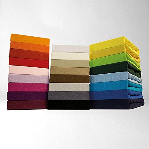 Zeitloses Jersey Spannbetttuch - alle Gren und Farben - 100% Baumwolle - 140-160 x 200 cm - silber / hellgrau