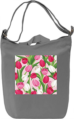 Tulips Texture Borsa Giornaliera Canvas Canvas Day Bag| 100% Premium Cotton Canvas| DTG Printing|