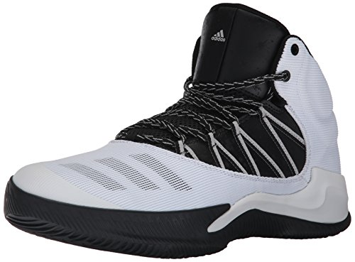 adidas Men's Ball 365 Inspired Basketball Shoe, White/Black/Grey Two, 11 Medium US