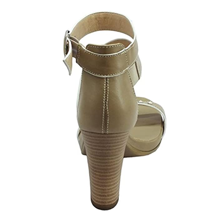 Scarpe E Borse Da Donna Sandali Per Nerogiardini In Pelle Colore Sabbia Tacco Alto