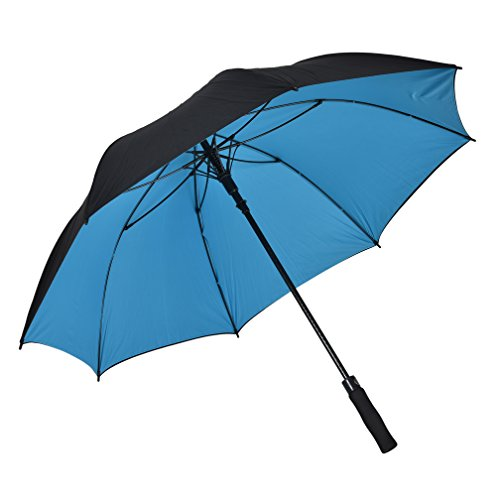 Atree Dual Layer Windproof& Waterproof Golf Umbrella 62inch Large Oversize Auto Open Straight Umbrella Durable and Strong Enough (Blue)