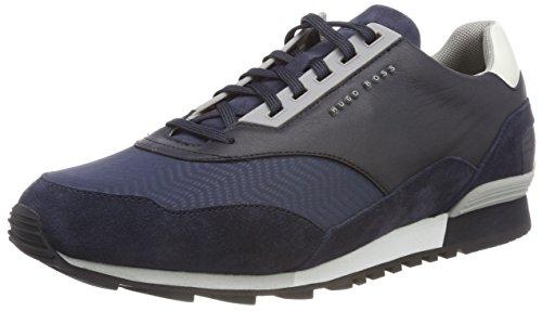 Dunkelblau für Zephir Niedrige Herren Sneakers Green 401 Runn Track in Blau BOSS T5c6qvxW