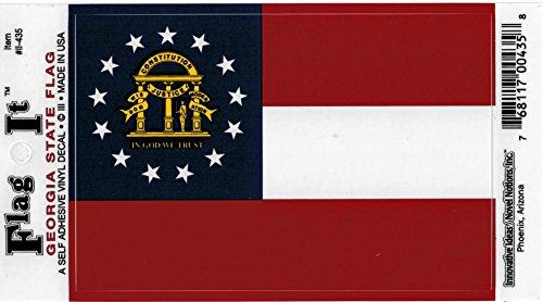 Flag Stickers Georgia (Georgia State New Flag Car Decal Sticker [3.5x5
