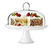 Brilliant - Bianco Pedestal Cake Plate and Dome 27cm (10.5 inches)
