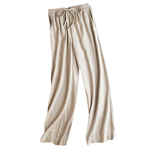 (Casual Womens Elastic Waist Cropped Trousers Bottoms Sports Wear Pants)