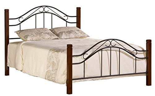 Hillsdale Furniture 1159BQR Matson Bed with Frame, Queen, Cherry/Black