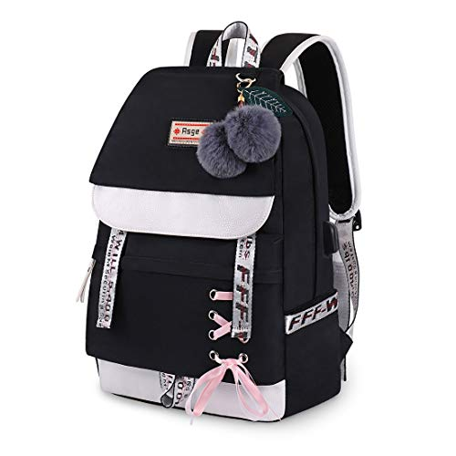 Asge Casual School Backpack For Girls