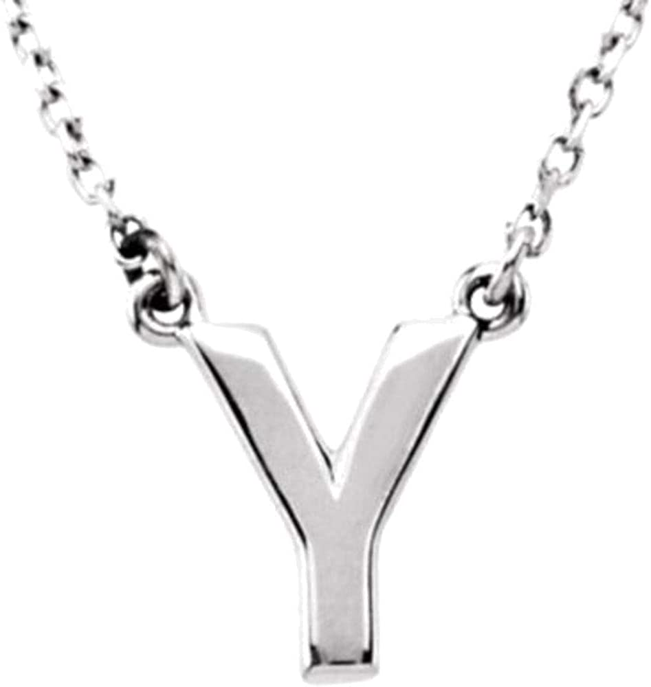 Bonyak Jewelry Sterling Silver Initial Y 16 Necklace