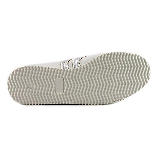 Steve Madden Donna Sneaker In Pelle Metallizzata Moda In Pelle Bianca