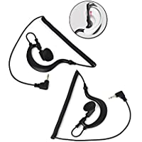 3.5mm G Shape Soft Earhook listen/ Receive Only Earpiece 1 Pin Ham Transceiver Headset Earphone for Motorola Icom Radio sperker Mics Jacks