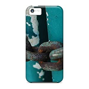 Fashion Tpu Case For Iphone 5c- Rusty Chains Defender Case Cover