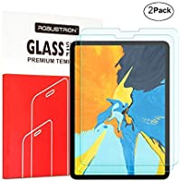 Robustrion Pack of 2 Anti-Scratch & Smudge Proof Tempered Glass Screen Protector for iPad Pro 11 inch 2018